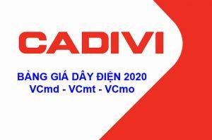 Bảng Báo Giá Dây Điện Dân Dụng CADIVI VCmd - VCmo - VCmt 2020