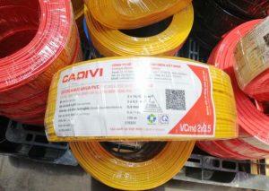 CADIVI VCmd 2x0.5mm2 0,6/1kV - Dây Cáp Điện Dân Dụng CADIVI