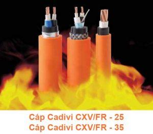 Cáp Chống Cháy CADIVI CXV/FR 25mm2, CXV/FR 35mm2 0.6/1kV