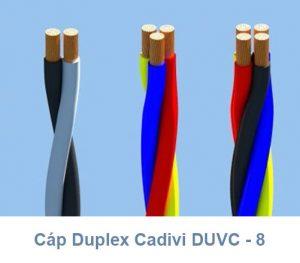 Cáp Duplex CADIVI DuCV - 8mm2 0.6/1kV