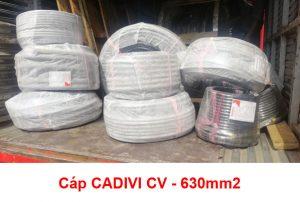 Cáp Ngầm Hạ Thế CADIVI CV - 630mm2 0.6/1kV