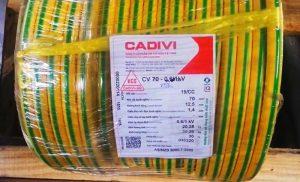 Cáp Ngầm Hạ Thế CADIVI CV-70mm2 0.6/1kV