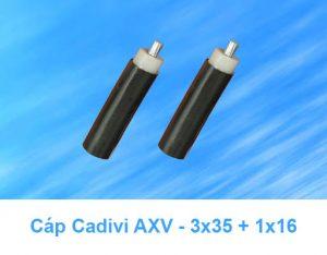 Cáp Nhôm CADIVI AXV 3x35 + 1x16mm2, AXV 3x35 + 1x25mm2 0.6/1kV