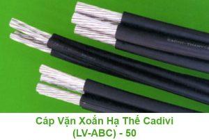 Cáp Nhôm CADIVI Vặn Xoắn Hạ Thế - 50mm2 0.6/1kV (LV-ABC)