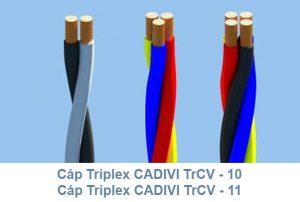 Cáp Triplex CADIVI TrCV 10mm2 & TrCV 11mm2 0.6/1kV