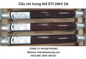 Cầu Chì Ống Trung Thế ETI 24kV 2A