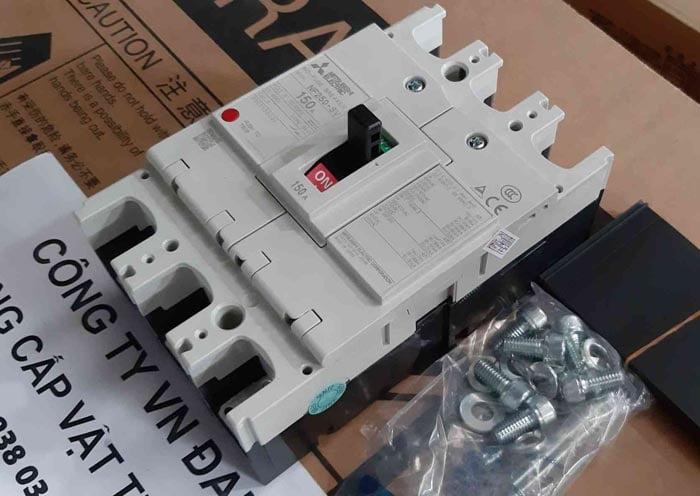 Cầu Dao Tự Động Aptomat (MCCB) MITSUBISHI NF250-SV 3P 150A