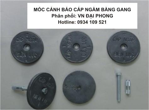 Mốc Cảnh Báo Cáp Ngầm Điện Lực Bằng Gang