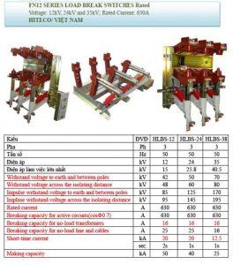 Catalogue LBS Cầu Dao Phụ Tải Trong Nhà 12kV/24kV/35kV