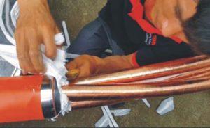Thi Công Hộp Nối Cáp 3M Quấn Băng Đổ Nhựa Trung Thế VN-6B cho Cáp 1Cx600mm2