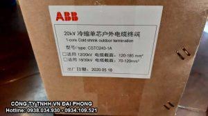 Đầu Cáp Trung Thế ABB Co Nguội Ngoài Trời 24kV 240mm2