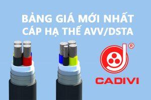 Bảng Giá Cáp Nhôm Hạ Thế - AVV/DSTA - CADIVI 0,6/1 kV Mới Nhất (Cáp Ngầm)