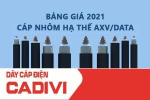 Bảng Giá Cáp Cadivi AXV/DATA 2021