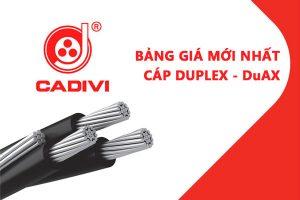 Bảng Giá Cáp Duplex DuAX - CADIVI Mới Nhất - Cáp Multiplex