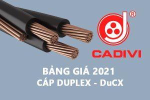 Bảng Giá Cáp Duplex DuCX - CADIVI 2021 - Cáp Multiplex