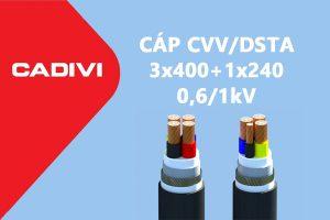 Cáp Ngầm Hạ Thế CVV/DSTA 3x400+1x240 - 0,6/1 kV - Giáp Băng Thép