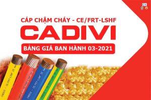 Bảng Giá: Cáp Chậm Cháy - CE/FRT-LSHF - CADIVI [Mới Ban Hành 3/2021]