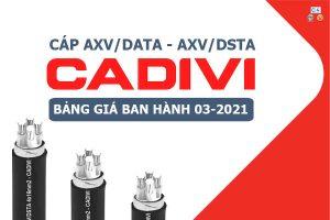 Bảng Giá: Cáp Nhôm AXV/DATA - AXV/DSTA CADIVI [Mới Ban Hành 3/2021]