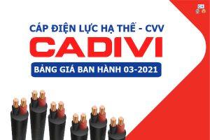 Bảng Giá: Dây CápĐiện CADIVI - CVV [Mới Ban Hành 3/2021]