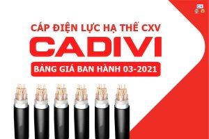 Bảng Giá: Dây Cáp Điện CADIVI - CXV [Mới Ban Hành 3/2021]