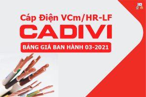 Bảng Giá: Cáp Điện Dân Dụng CADIVI VCm/HR-LF [Mới Ban Hành 3/2021]