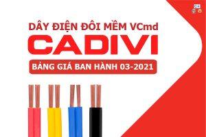Bảng Giá: Dây Cáp Điện Đôi CADIVI - VCmd [Mới Ban Hành 3/2021]