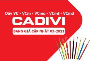 Bảng Giá: Dây Cáp Điện CADIVI Bọc Nhựa PVC [Cập Nhật 3/2021]