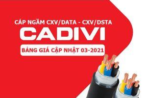 Giá Cáp Đồng Hạ Thế CADIVI - CXV/DATA và CXV/DSTA [Cập Nhật 3/2021]