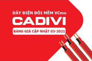 Bảng Giá: Dây Điện Đôi CADIVI Bọc Nhựa PVC - VCmo [Cập Nhật 3/2021]