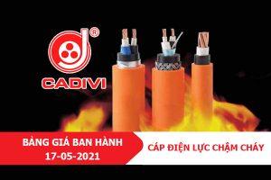 Cáp Điện Chậm Cháy CADIVI [Báo Giá Tốt Nhất Tháng 5-2021]