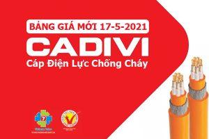 [CẬP NHẬT T5/2021] Bảng Giá Cáp Chống Cháy CADIVI