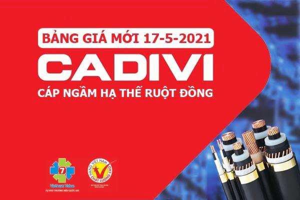 Cáp Ngầm Hạ Thế Ruột Đồng CADIVI [Báo Giá Tốt Nhất Tháng 5-2021]