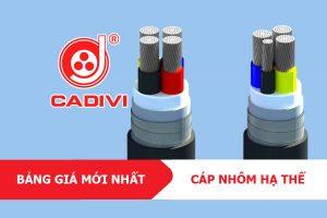 [Bảng Giá CADIVI 17/5/2021] Cáp Điện Lực Hạ Thế Ruột Nhôm