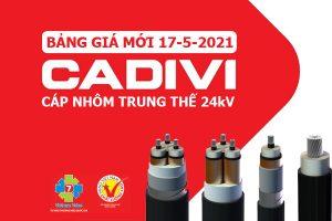 [Bảng Giá CADIVI 17/5/2021] Dây Cáp Điện Trung Thế Ruột Nhôm