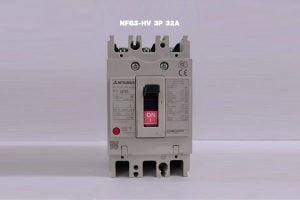 [Bảng Giá] Aptomat MCCB 3 Pha Mitsubishi | NF63-HV 3P 32A 10kA